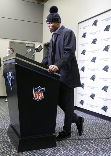 Cam Newton's amazing postgame press conference hat is a women's beanie that sells for $360.