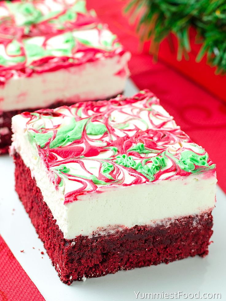 Christmas Red Velvet Cheesecake Brownies - so delicious, so cute, so adorable! Make these Christmas Red Velvet Cheesecake Brownies for holidays and enjoy with your family!