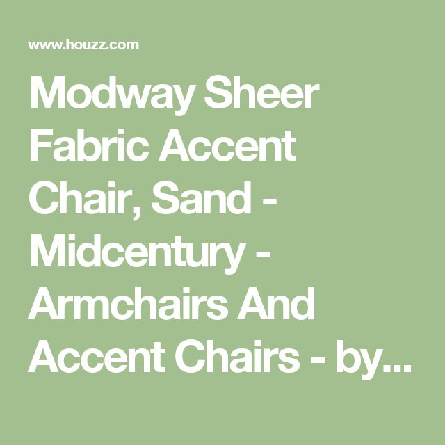 Modway Sheer Fabric Accent Chair, Sand - Midcentury - Armchairs And Accent Chairs - by Homesquare