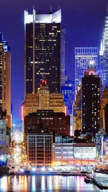 Astor Plaza, New York , at 745 feet tall 1515 Broadway 7th Ave, 45 St. Times Square MTV studios, famous Minskoff Theater.