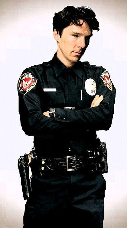 Gorgeous as a cop