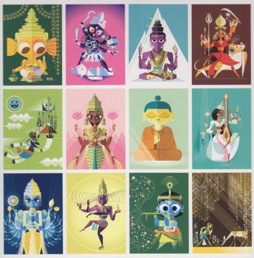 Hindu Poster Art: 57 Best Sanjay Patel Images On Pinterest