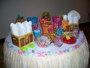 cubetas de arena utilizada para mesa dulce de fiesta infantil