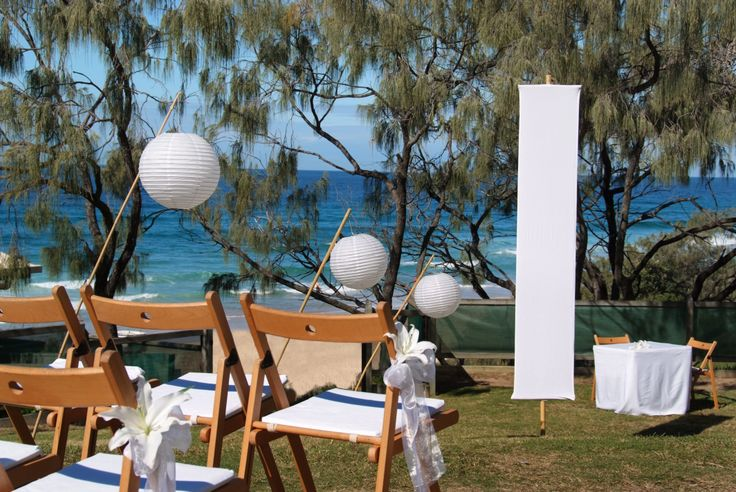 Wedding ceremony by the beach at the Sunshine Beach Surf Club