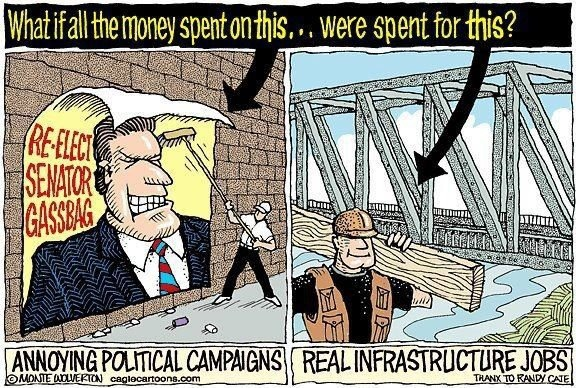 What if all the money spent on this [annoying political ...