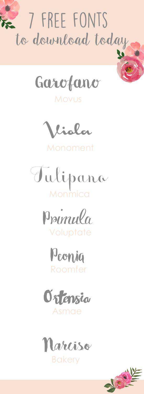 Free handwriting fonts.