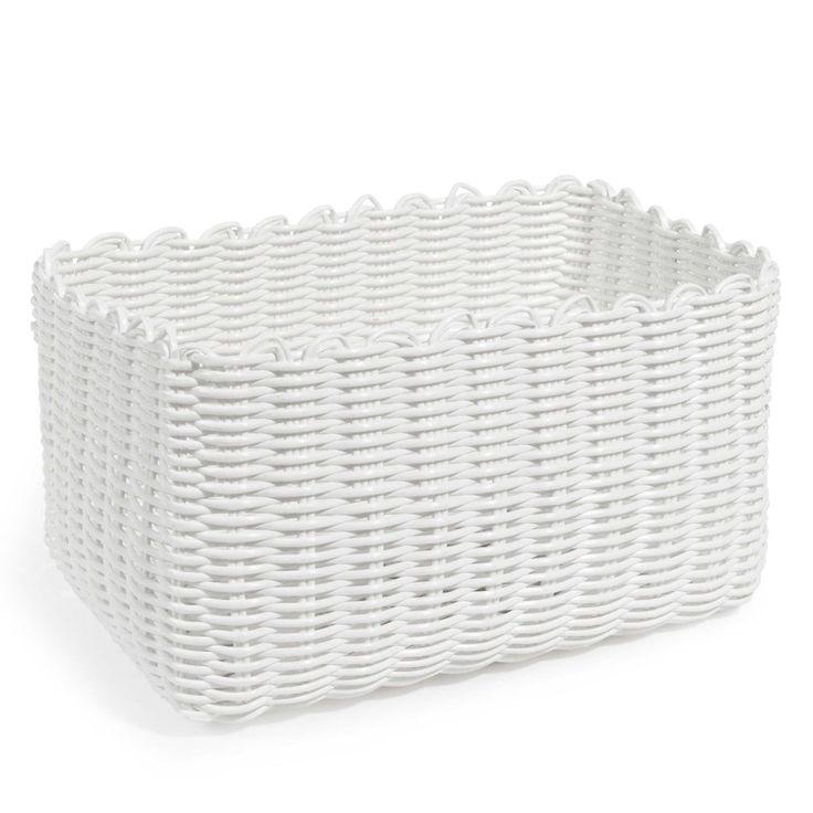 Flechtkorb SCOUBIDOU, 14 x 17cm, weiß