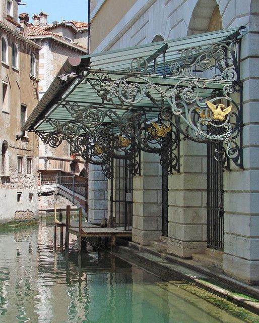 "Water Entrance to ""La Fenice"" Opera House, Venice, Italy. What a dream it would be to pull up to La Fenice in a gondola."