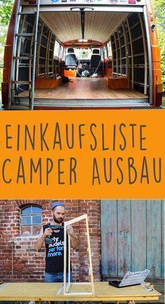 Die ultimative Einkaufsliste für den Camper Ausbau