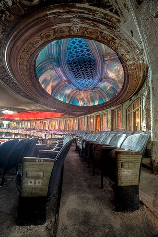 Uptown Theatre in Chicago - Photo by eric holubow architecture decay ruins abandoned buildings places architecture decay ruins abandoned buildings places....this hurts my heart