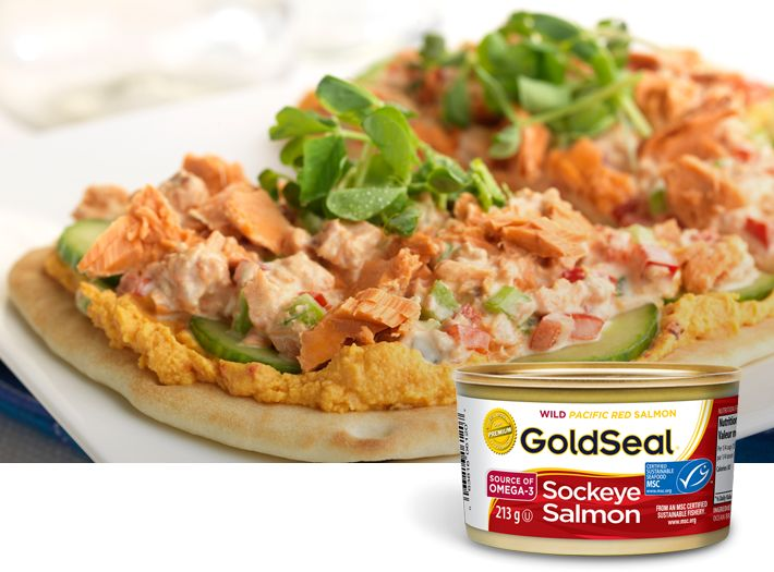 MSC Certified Canned Sockeye Salmon  Our regular canned wild sockeye salmon (Oncorhynchus nerka)is packed from fresh fish sections, including the skin and bones - which are high in calcium and Omega-3.