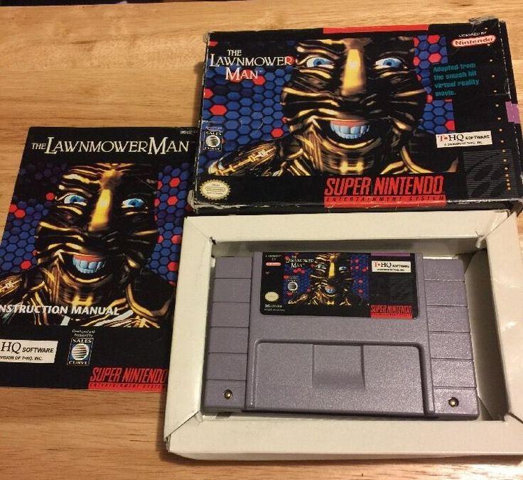 THE LAWNMOWER MAN Super Nintendo SNES Game CIB Complete in Box