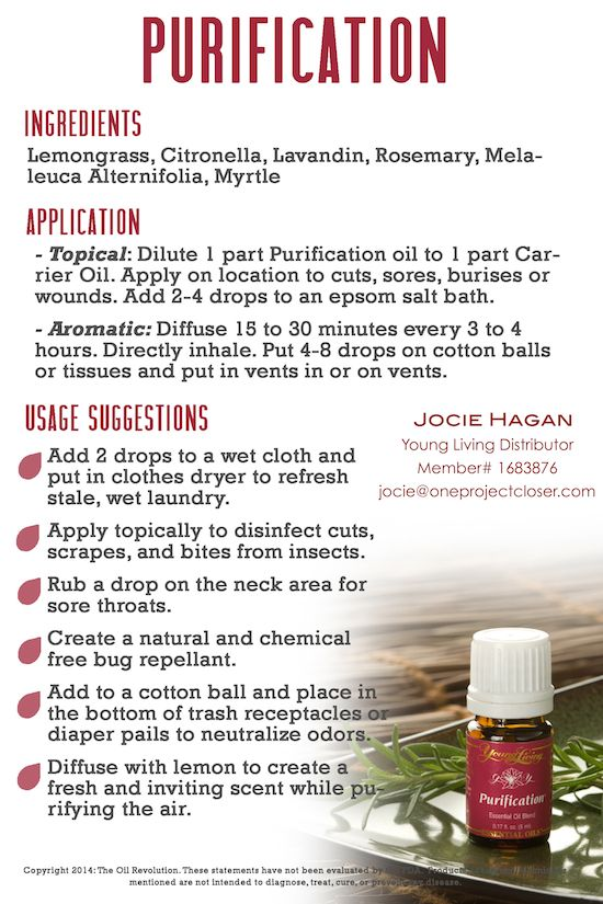 Young Living Purification Essential Oil - Love using this to get rid of paint fumes!!