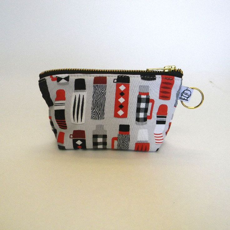 Charlie Change Purse/ Black & Red Thermos
