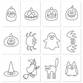 #Cartulinas con #dibujos para colorear y recortar #diy #materialescolar #manualidades #halloween