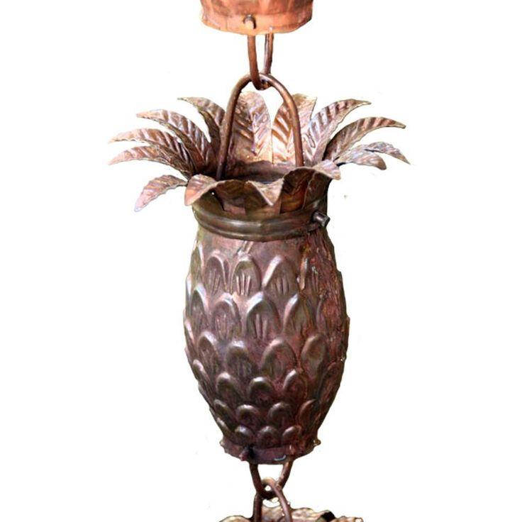 A touch of the tropic! Rainchains - 2960 Pineapple Themed Copper Rain Chain