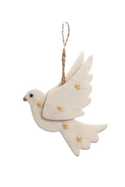 Felt Dove.....Think I could make this out of dough......it looks really easy.
