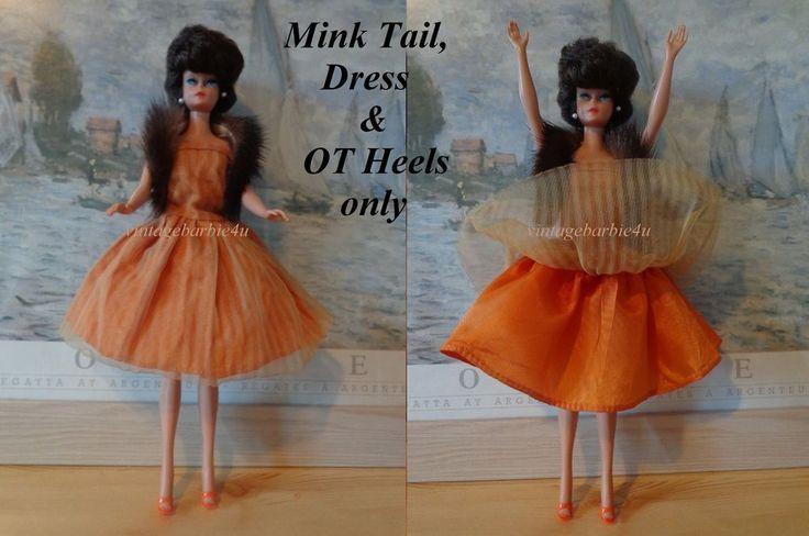 Vintage Uneeda Suzette Doll Original Dress Terracotta w Mink Tail Barbie Babs  #Uneeda #ClothingAccessories