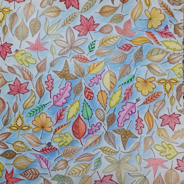 Youngok's Happy Arts: Coloring Book : Secret Garden  - The leaves with four Snails  #coloringbookforadults #coloringbook #colortheory #secretgarden #johannabasford #secretforest #secretforestocean #비밀의정원 #컬러링북