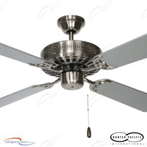 Brushed Chrome Majestic Coolah Ceiling Fan - Shop - Ceiling Fans Direct