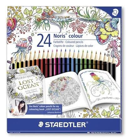 "Pastelky STAEDTLER ""Noris Colour"", limitovaná edícia Johanna Basford, 24ks"