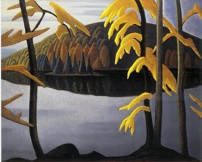 "Canadian artist Lawren Harris - ""Northern Lake,"" 1923, Canadian Group of Seven"