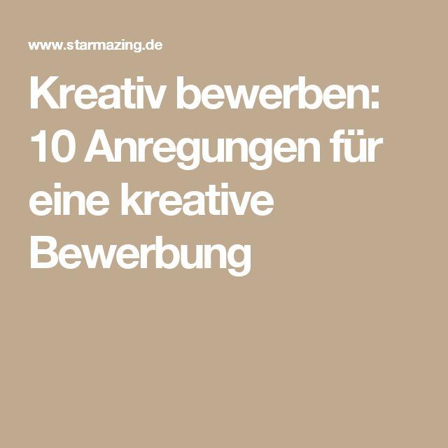 1000+ Ideas About Kreative Bewerbung On Pinterest