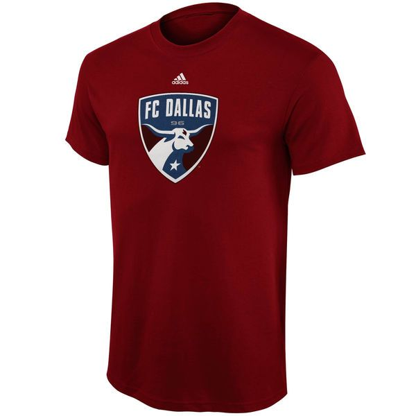 FC Dallas adidas Youth Primary Logo T-Shirt - Red - $12.97