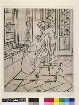 Mia madre che lavora Boccioni Umberto (1882-1916)Royaume-Uni, Londres, British Museum