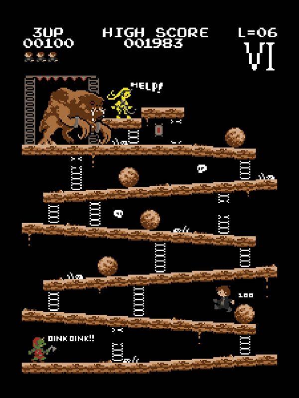 Donkey Kong Mash-Up 8-Bit par Baznet - http://www.2tout2rien.fr/donkey-kong-mash-up-8-bit-par-baznet/