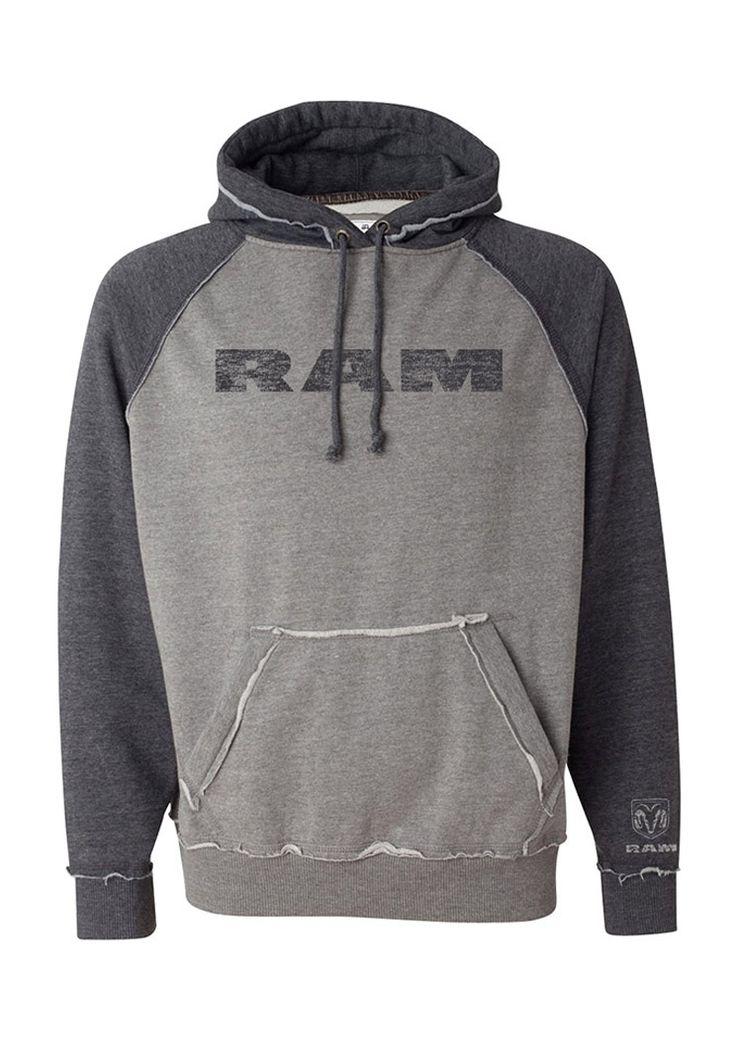 Ram Men's Vintage Heather Hooded Sweatshirt