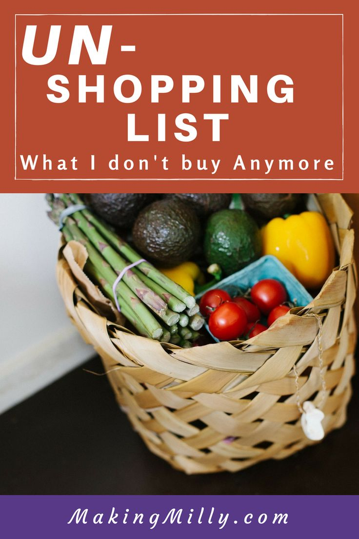 Things I don't buy anymore to save money and simplify shopping.