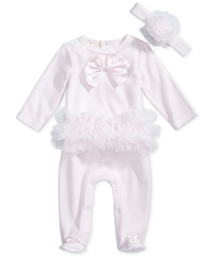 First Impressions 2-Pc. Headband & Tutu Footed Coverall Set, Baby Girls (0-24 months), Created for Macy's