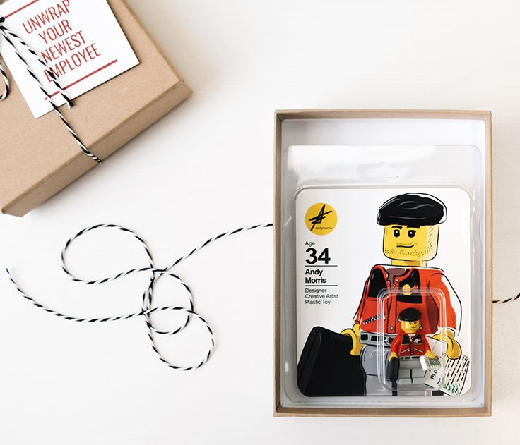 artist applies for jobs using LEGO minifigure replica as a resumé