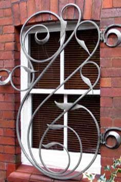 contemporary forged steel security grill