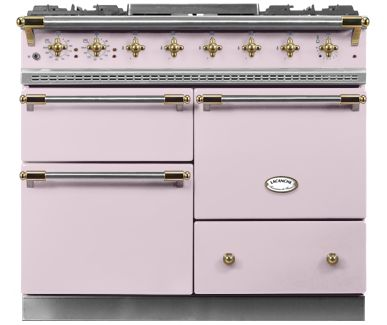 Lacanche Chagny in Rose Quartz porcelain enamel and brass trim
