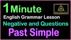Past Simple - Negative and Questions | Learn Free Online Grammar Lesson...