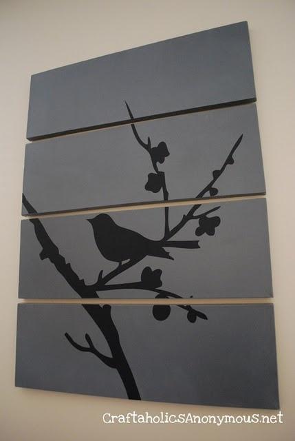 Painting on boardsWall Art, Canvas Ideas, Birds Art, Canvas Wall, Wall Hanging, Canvas Art, Diy Canvas, Crafts, Birds Canvas