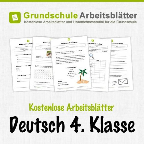 kostenlose arbeitsbl tter und unterrichtsmaterial f r den deutsch in der 4 klasse in der. Black Bedroom Furniture Sets. Home Design Ideas