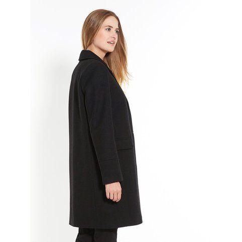 Manteau long zippe femme