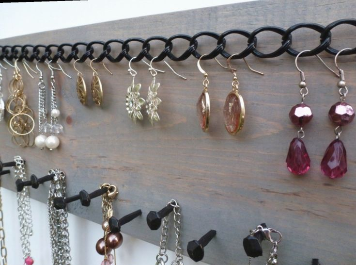 Jewelry Holder DIY Rustic #aesthetics #friyay # ...