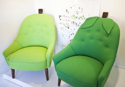 Pear chairs by Mimmi Staaf