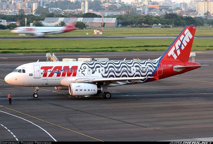 TAM Airbus A319-132 ~ Special livery commemorating the 450 years of Rio de Janeiro city.