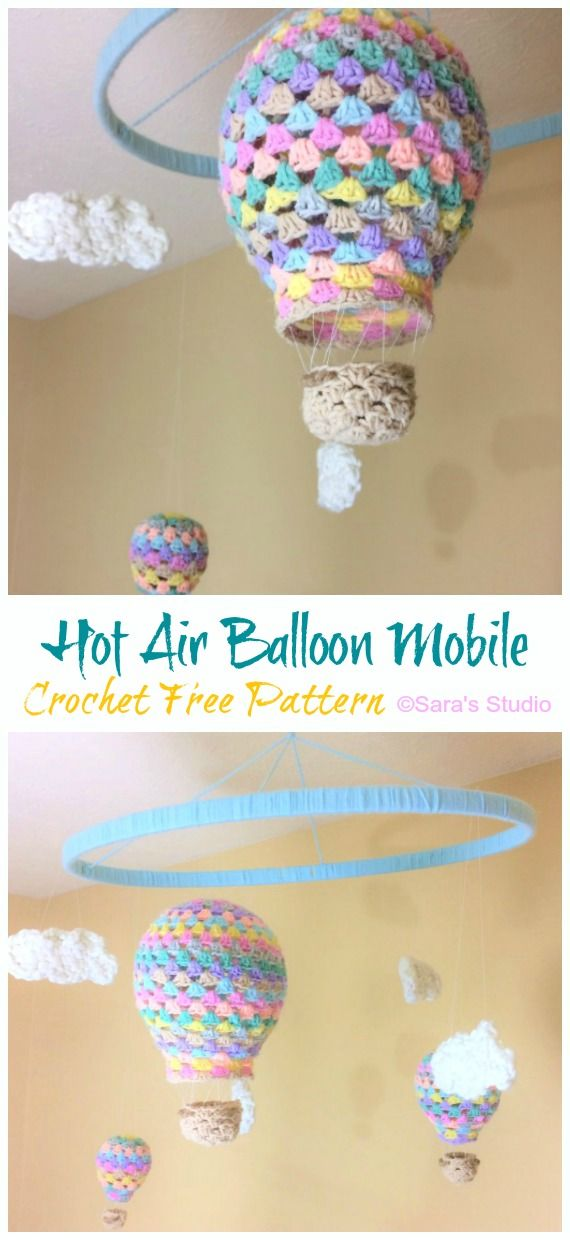 Hot Air Balloon Baby Mobile Crochet Free Patterns