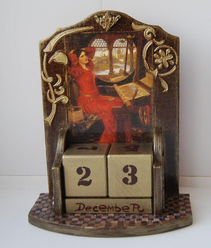 Декупаж - Сайт любителей декупажа - DCPG.RU   вечный календарь  Click on photo to see more! Нажмите на фото чтобы увидеть больше! decoupage art craft handmade home decor DIY do it yourself calendar