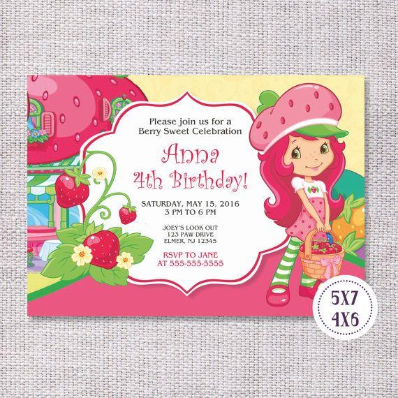 Strawberry Shortcake Invitation Strawberry Shortcake Birthday Party Strawberry Shortcake Invite Strawberry Shortcake Party Supplies Strawberry Shortcake Printables #strawberryshortcake #birthdayinvitation #birthdayinvite #partyideas #birthdayparty #tomasinadesign #teampinterest