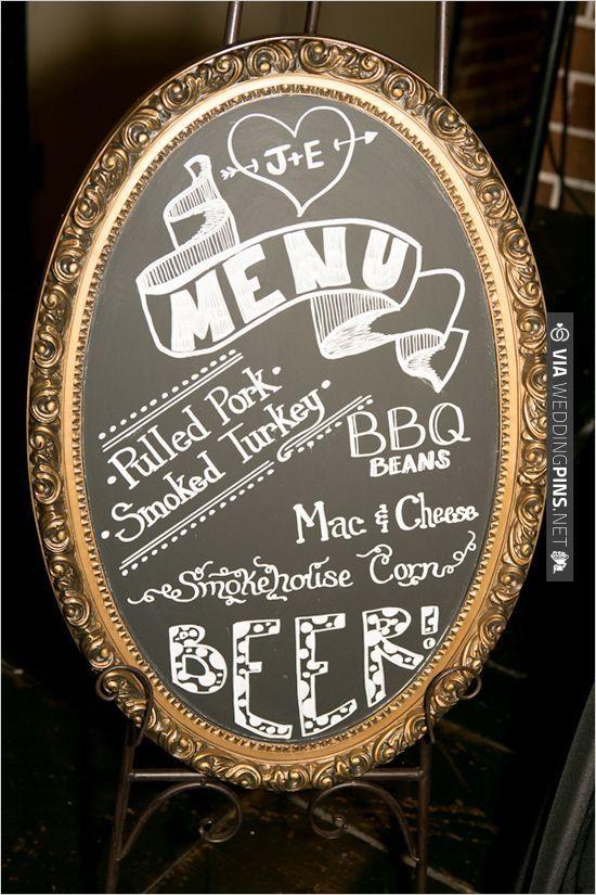 vintage chalkboard menu sign | VIA #WEDDINGPINS.NET
