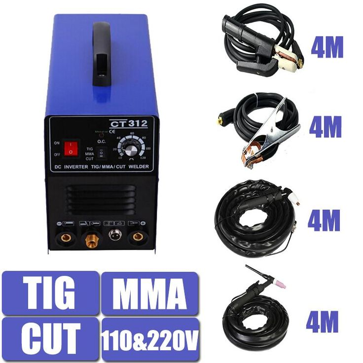 [Visit to Buy] Double Voltage TIG MMA CUT Welding Mulitifunction Machine Equipment CT312 With 4 Meters Torch and holder Factory Price #Advertisement