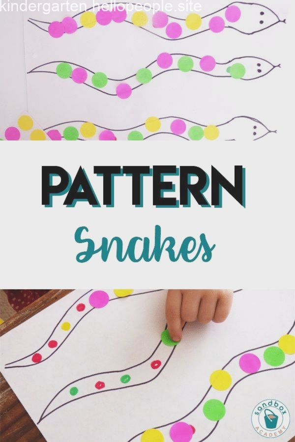 Pin On Kindergarten Activities Pattern activities for preschoolers