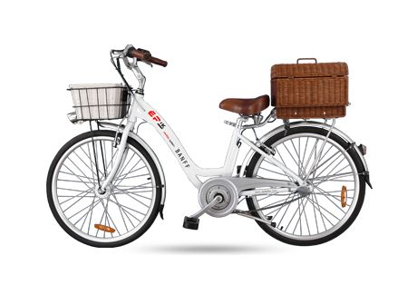 Epik Banff- Like the popular tourist destination it's named after, the EPIK Banff pedElec is sure to draw a crowd.The EPIK Banff pedElec features a retro design with fenders, a rear rack, and shiny chrome plated front handlebars.